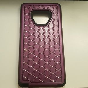 case for samsung note 9 black-purple new